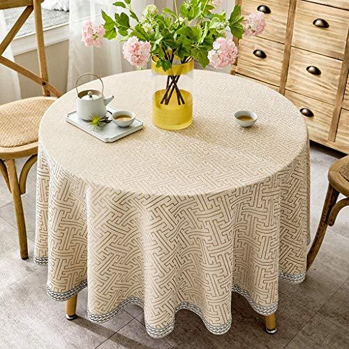 C 100cm Nappes Coton Et Lin Couleur Unie Petite Nappe Ronde Table pour Restaurant Maison Table Ronde Maison (Couleur   C, Taille   100cm)