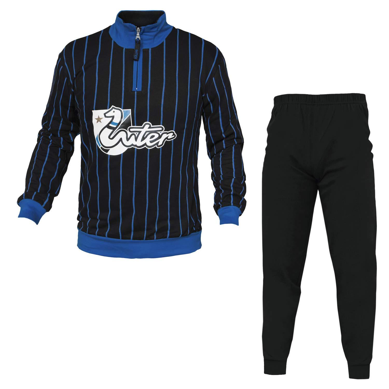 F.C.Internazionale Tuta Pigiama Inter 14069 Felpa Cotone Uomo S/XXL Planetex