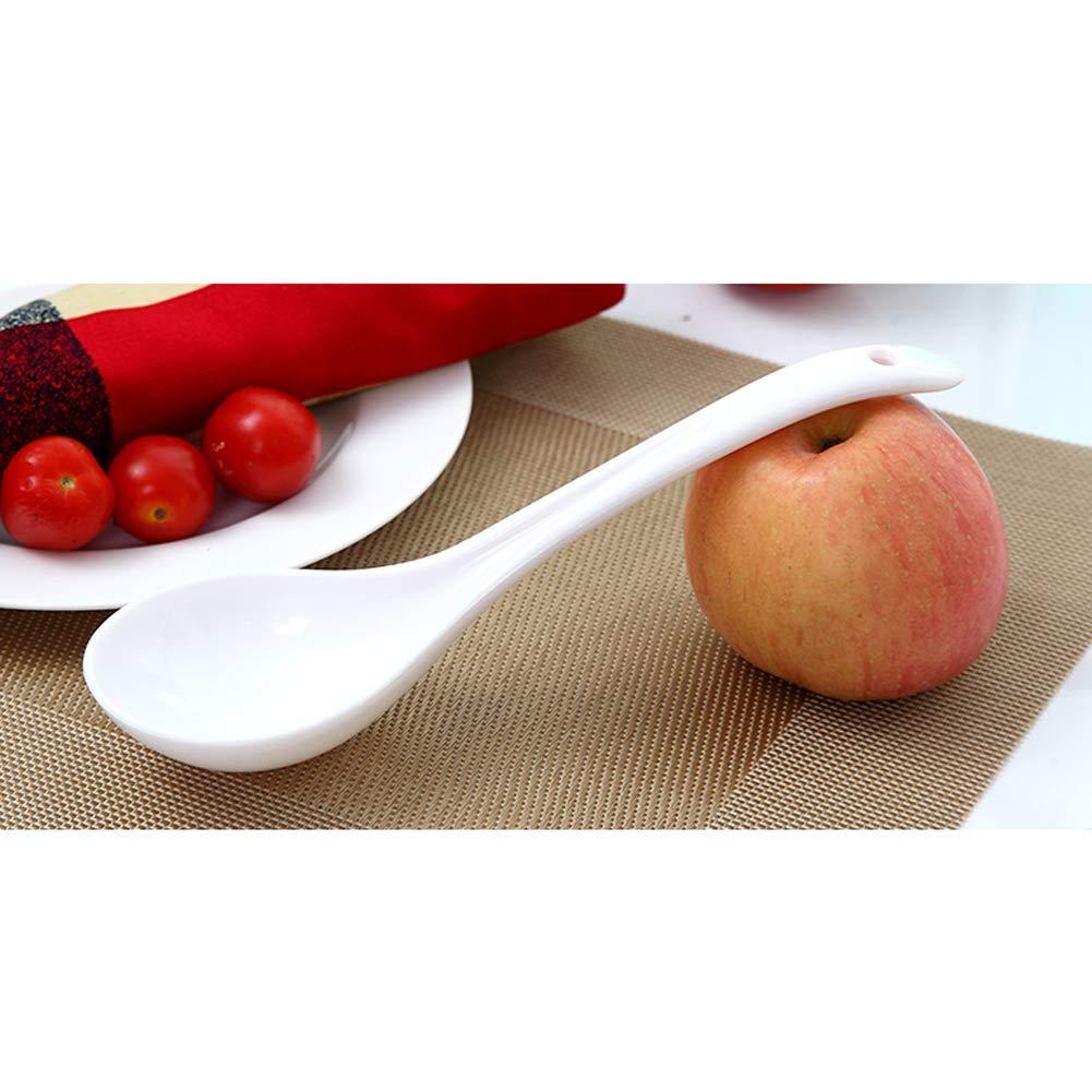 Kaffee Nat/ürliches PP-Material unzerbrechliche Plastik-tischl/öffel f/ür Tee Suppe