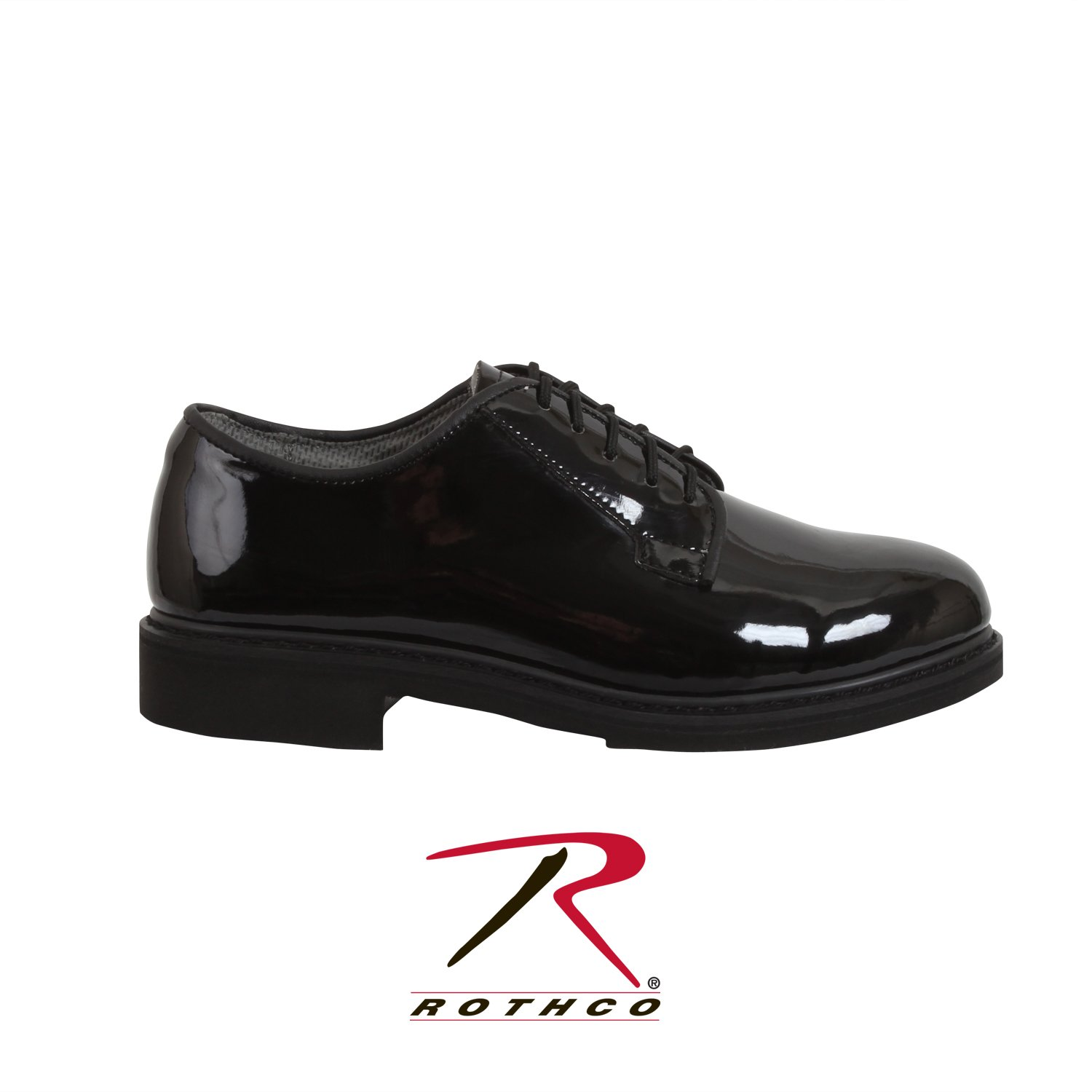 Rothco Uniform Oxford/Hi-Gloss Shoe Black, 4
