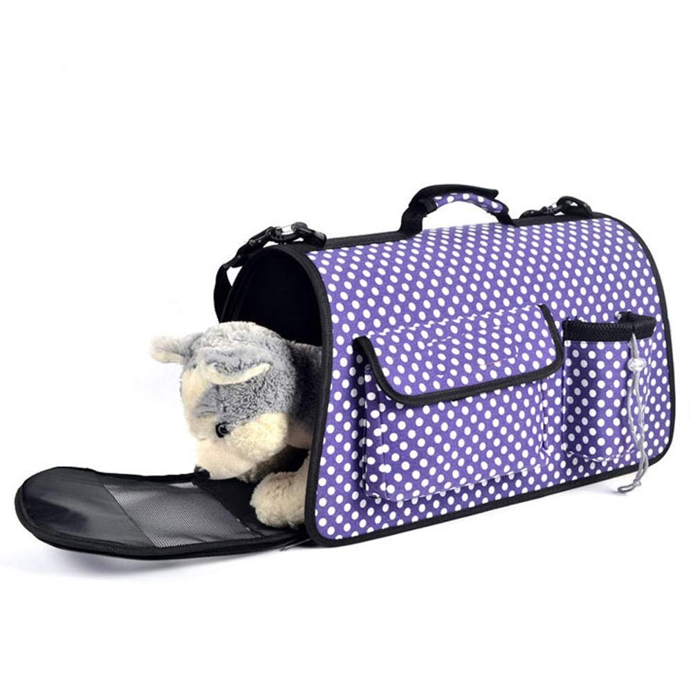 PURPLE L PURPLE L Pet Travel Carrier Animal Bag Pet Carrier for Small Dogs and Cats Travel Bag Ourtdoor Pet Bag (color   Purple, Size   L)