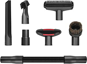 LANMU Car Detailing Vacuum Kit for Vacuum Cleaners 1 1/4 inch, Flexible Extension Hose Accessory Attachment Brush Nozzle Crevice Tools