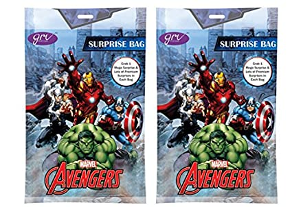 f913326cf164 Image Unavailable. Image not available for. Color  Avengers Surprise Bag  Surprise Gift Inside Pack of 2 Bags Easter Kinder Fun Joy Kids