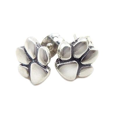 Dew Sterling Silver Charming Paw Print Stud Earrings 4857HP xDhHA9NW8Y