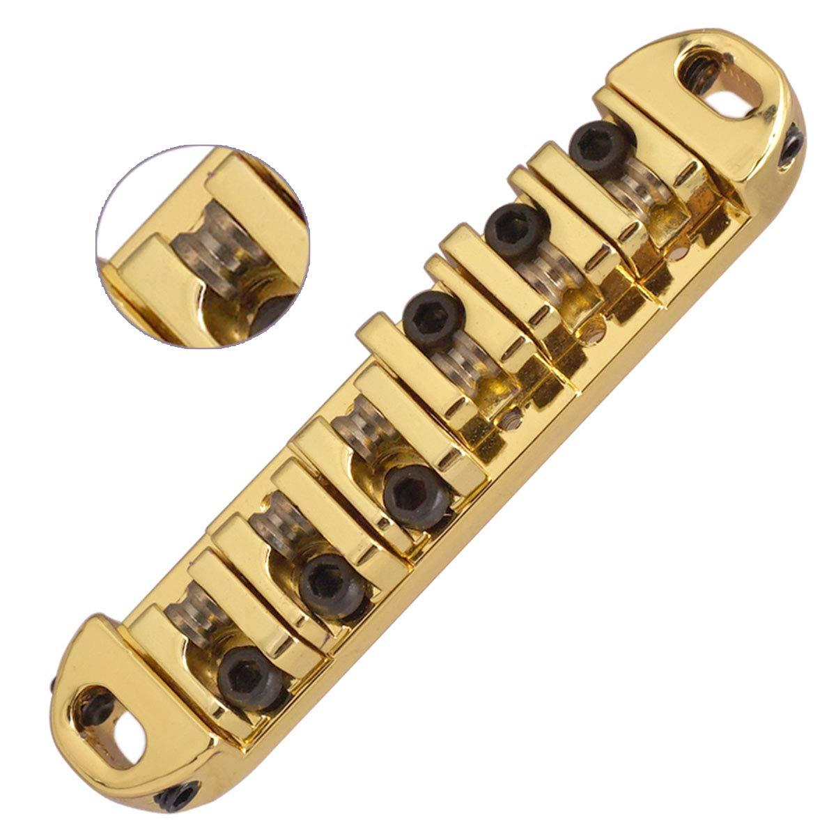 Vencetmat Abr-1 Style Guitar Bridge Saddle Roller for Gibson Les Paul Parts Replacement Gold