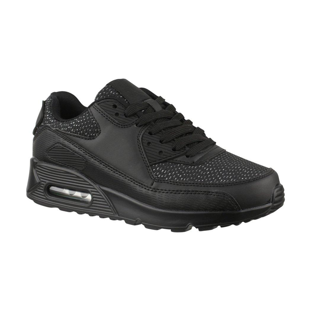 Trendige Unisex Sneaker | Damen | Herren Kinder Sport Laufschuhe | Damen Turnschuhe | Chunkyrayan Black Glitzer Paris c3efea