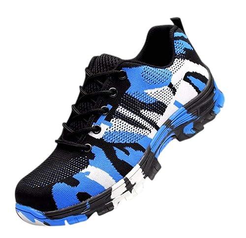 Zapatos de Trabajo para Hombres/Mujeres Tapa de Dedos de Acero Calzado de Seguridad de