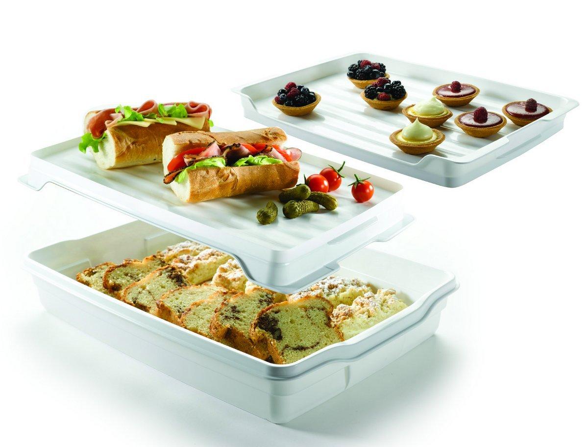 Curver 175245 Caja para transportar tartas color blanco y transparente