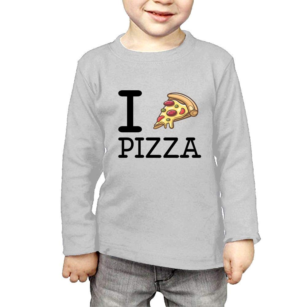 Baby Girls Childrens I Love Pizza Printed Long Sleeve 100/% Cotton Infants Tee Shirt