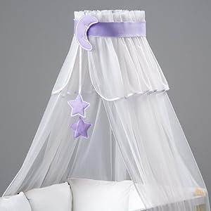 Ciel de lit/moustiquaire bébé + multicolores Décoration + support flèche de lit - Designed by Dreamzzz Handmade