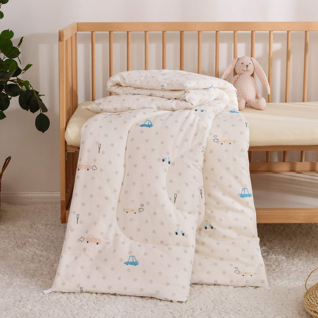 MR/&HM Toddler Comforter Organic Cotton 47x 59Toddler Nursing Blanket for Infant and Newborn Baby Quit Blanket Soft Lightweight Car Ultra Soft for Crib Bed