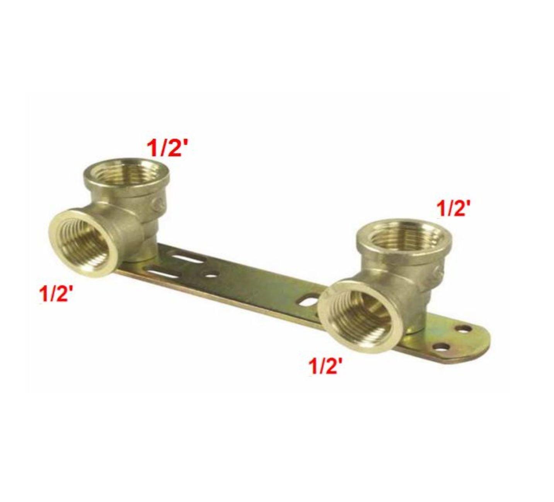 1//2 X 1//2 encastr/é mitigeur thermostatique de douche//L 150 mm//barre de plaque arri/ère BSP Filetage robinet