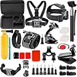 Wifi Action Camera Accessories Kit for Akaso EK7000/ Gopro Hero6 Black hero5 Session4 3 2 1/ Fitfort/ Wewdigi/ DBPOWER/ YI Cam (27-in-1 )