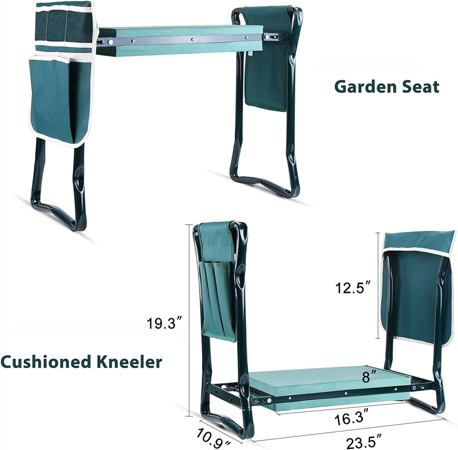 Great Tool for Happy Gardening Ohuhu Garden Kneeler and Seat with Thicken /& Widen Soft Kneeling Pad