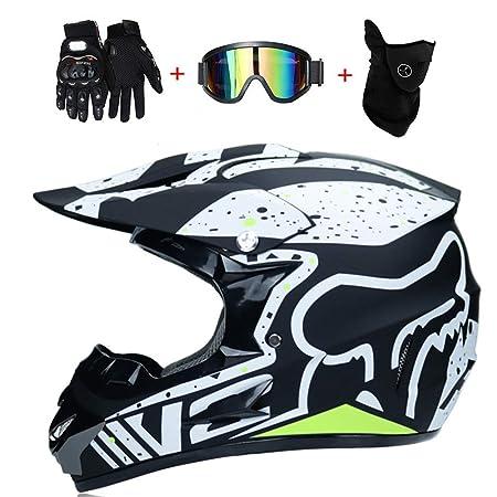WanSheng Motorrad Motocross Motorradhelme & Windschutzmaske & Handschuhe & SCHUTZBRILLE D.O.T Standard Kinder Quad Bike ATV G