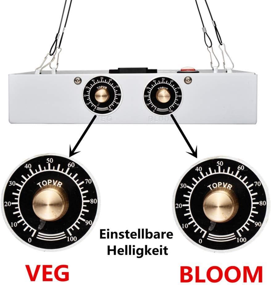 European regulations XGeek 1200W LED Grow Light,Full Spectrum Lamp,Double Adjustable Knobs Plant Light for Greenhouse 1200W