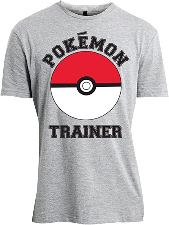 Pok/èmon Logo W//Slogan Camiseta para Hombre
