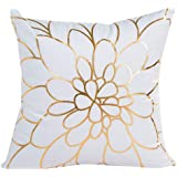 """Hot Sale!!45cm X 45cm / 18 X 18"""" Polyester Gold Foil Printing Pillow Case,Sofa Waist Throw Cushion Cover Home Decor - Removable Washable (A)"""