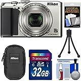 Nikon Coolpix A900 4K Wi-Fi Digital Camera (Silver) with 32GB Card + Case + Tripod + Kit (Certified Refurbished)