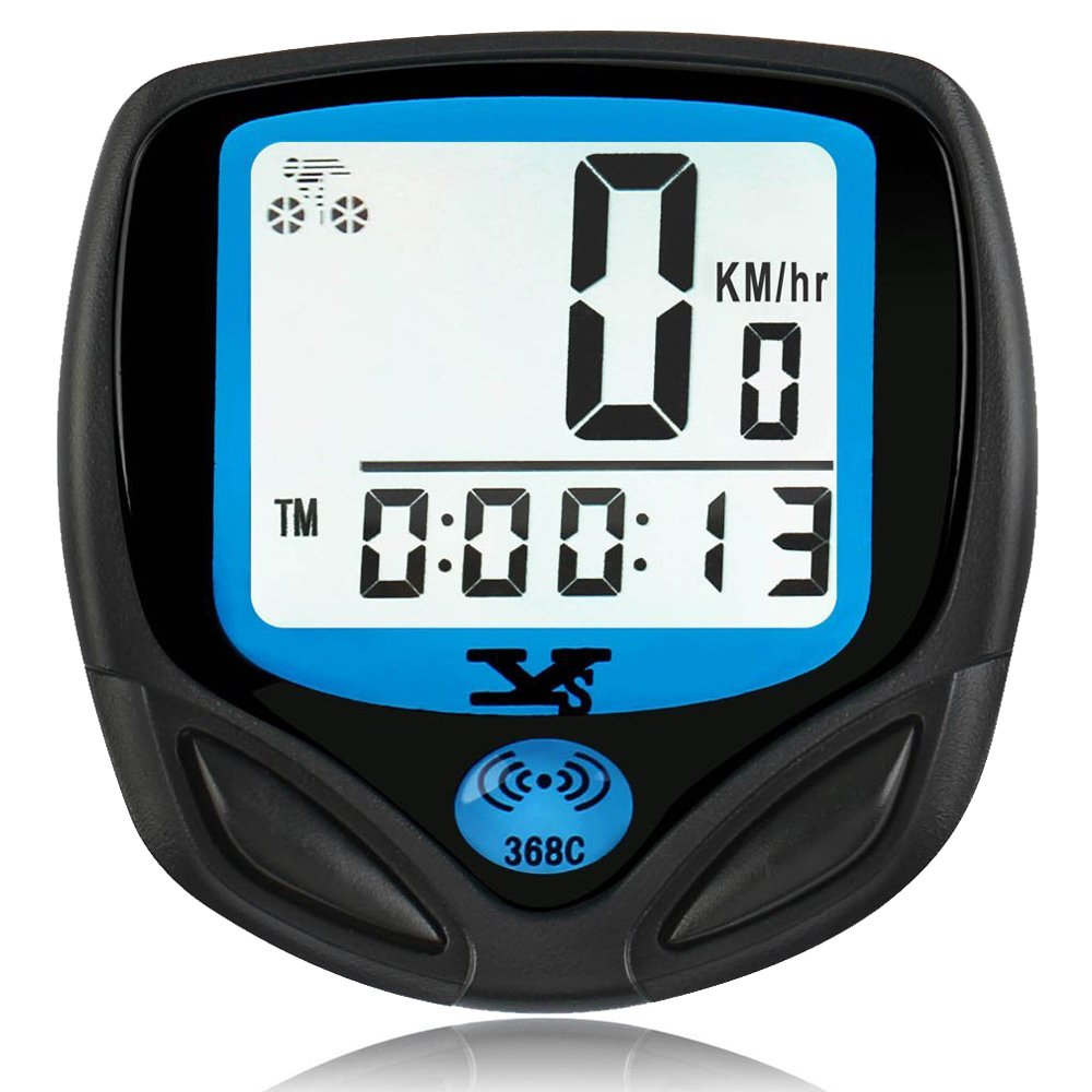 SY Bicycle Speedometer and Odometer Wireless Waterproof Cycle Bike Computer with Digital LCD Display & Multi-Function [Upgraded version]