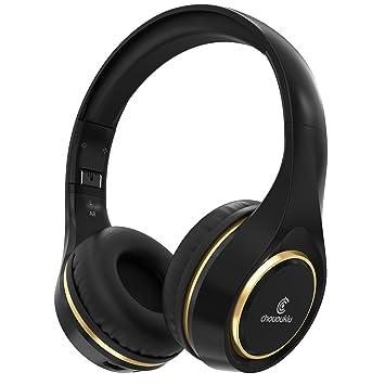 Auriculares inalámbricos Bluetooth auriculares en oreja, chououkiu plegable Hi-Fi estéreo auriculares con micrófono Control de volumen, con cable y ...
