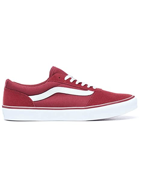 Vans Old Skool Lite Zapatillas Unisex Adulto Rojo Suede Canvas 38 EU ... 9f7d0008de7