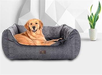 FVCDWSA Tela Gris de imitación de algodón, Cama para Perro, Cama para Mascotas,