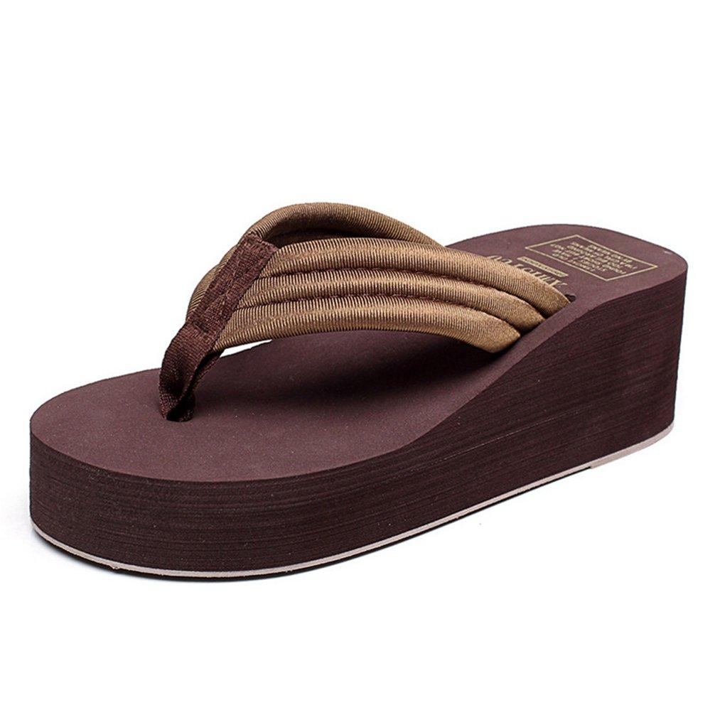 JITIAN Damen Fashion Plattform Flip Flops Sommer Comfort Outdoor Anti Slip Thong Beach Wedge Sandalen