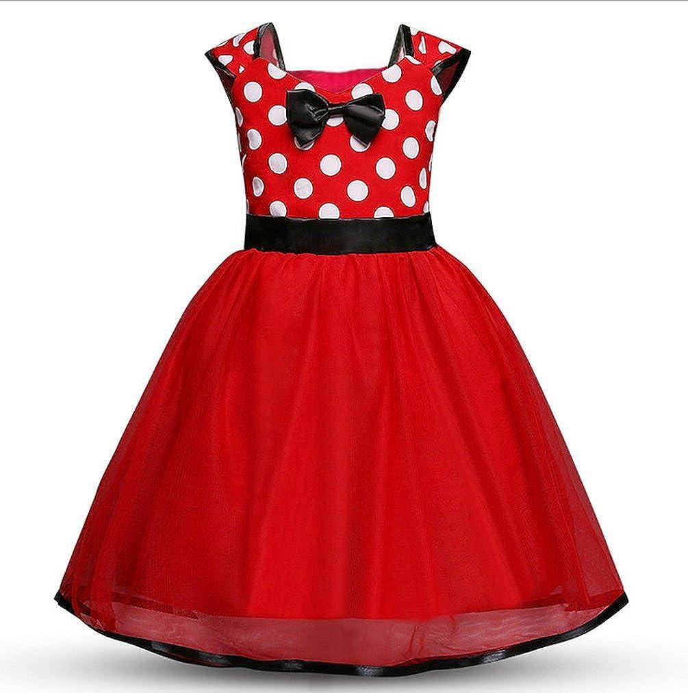 Black Friday Cadeau f/ête No/ël Magike Robe No/ël Enfant B/éb/é Fille pour Nouveau-n/é Rouge