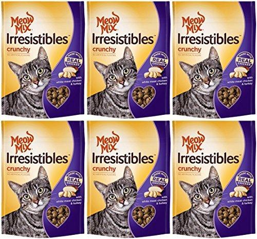 Each Net Pack - Meow Mix Irresistibles Cat Treats - Crunchy - Chicken - Net Wt. 2.5 OZ (71 g) Each - Pack of 6
