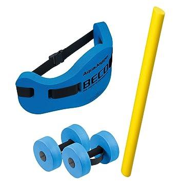 Beco Aquafitness Basic - Kit de cinturón con flotador + tubo de ejercicios + mancuernas acuáticas (talla M): Amazon.es: Deportes y aire libre