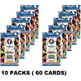 2016 Panini Adrenalyn Road to UEFA EURO France lot of TEN(10) Factory Sealed Booster Packs with 60 Cards! Imported from Europe! Look for Top Stars including Ronaldo, Rooney, Pirlo, Costa and Many More! Loaded !