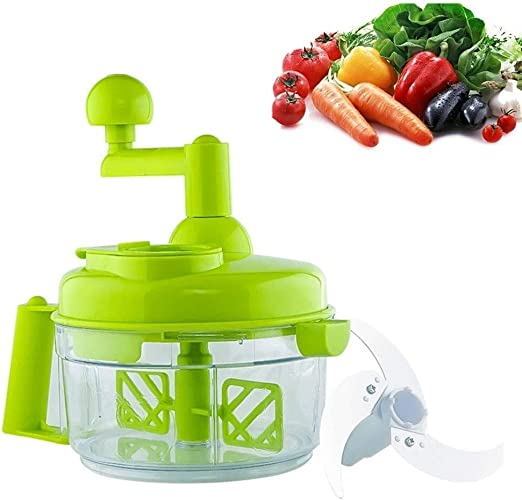 DXP-shop Mano Chopper Manual Robot De Cocina - Cebolla Fruta del Interruptor De Blender Herramientas De La Cocina Esencial Shredder con Huevo Separador con 3 Sostenido Lámina del Acero Inoxidable: Amazon.es