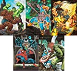 1992 Skybox Marvel Masterpieces Series-1 5-Card New Complete Classic Battle Spectra Chase Card Set