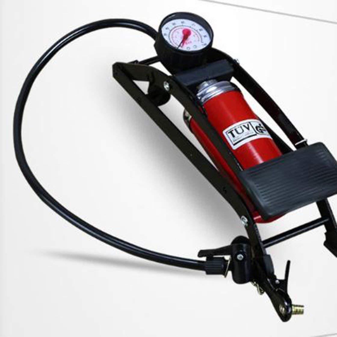 Bomba de inflado de la Bicicleta Tipo Pedal de pie Bomba de Aire de Alta presión Mini Máquina Infladora Portátil para Bicicleta Motocicleta Bicicleta Herramienta Vida Solitaria Laurelmartina