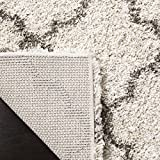 #6: Safavieh Hudson Shag Collection SGH282A Ivory and Grey Area Rug