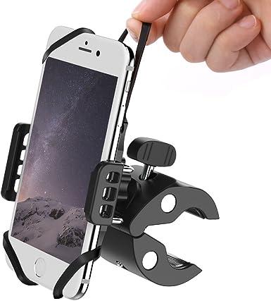 meidi bicicleta y moto teléfono móvil soporte para teléfono Soporte para silla universal ATV montaña bicicleta manillar soporte para iPhone X, 8,7 Plus, 6s plus, Samsung Galaxy Android smartphones y GPS: Amazon.es: