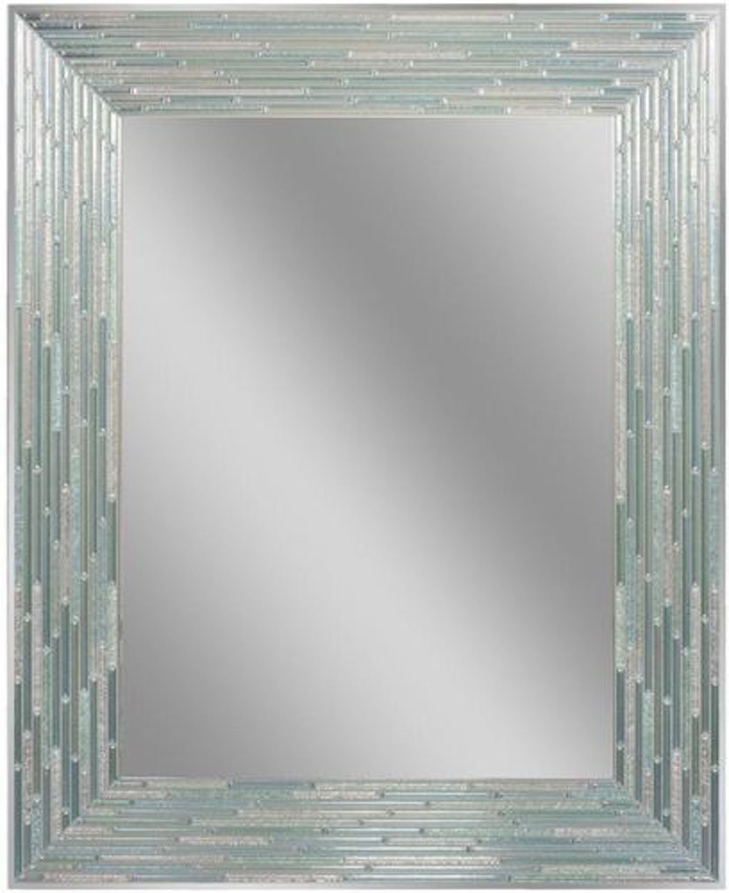 "Headwest Reeded Sea Glass Wall Mirror, 24 inches by 30 inches, 24"" x 30"""