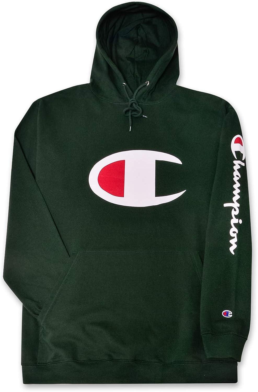 Champion Hoodie Men Big and Tall Hoodies for Men Pullover Sweatshirt