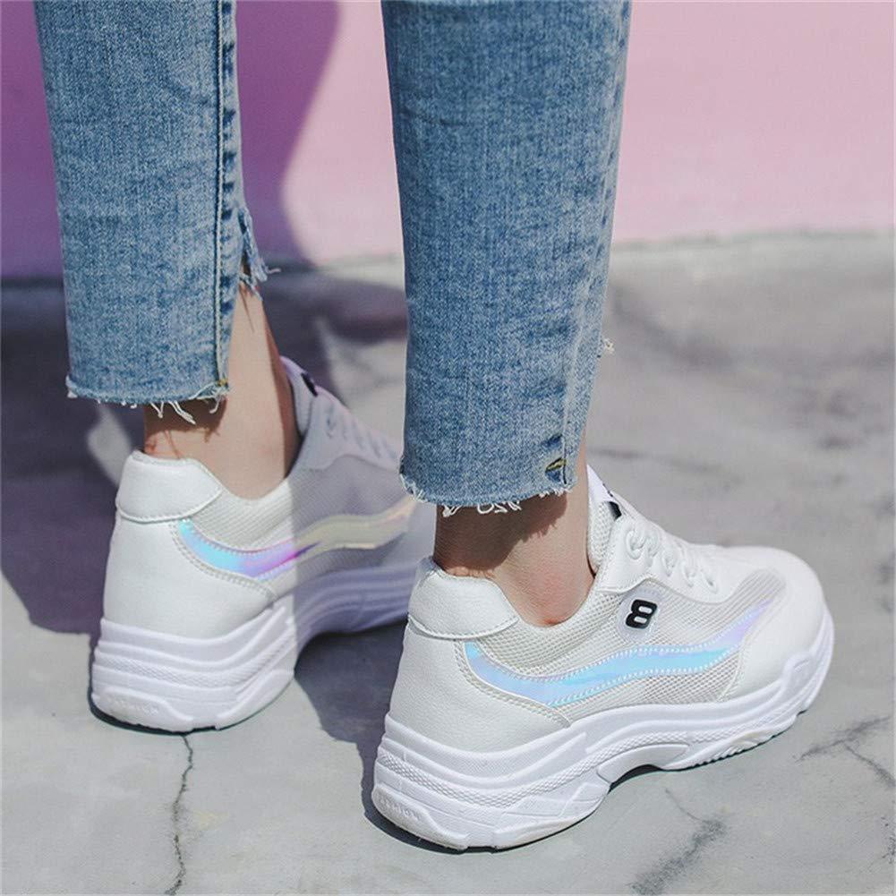 KAKAFASHION Womens Shoes Sports Casual Outdoor Shoes White Yellow EU35-40 Trainers
