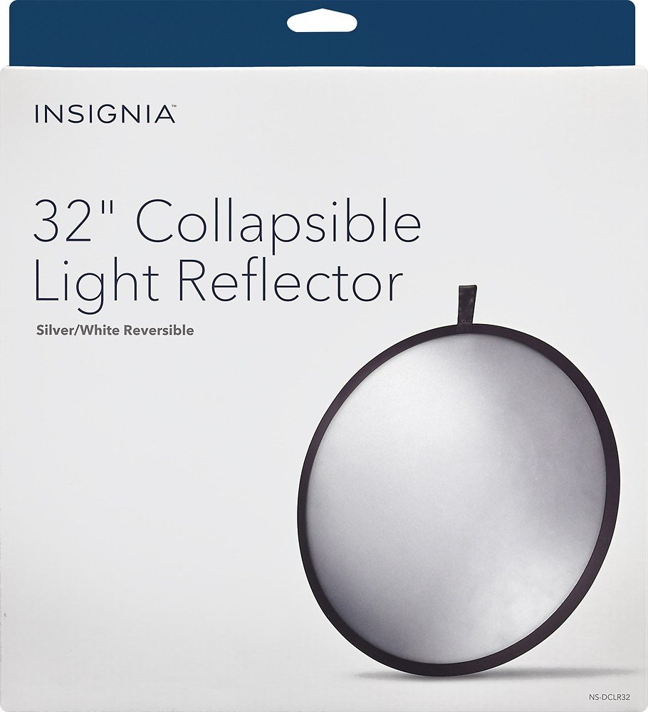 InsigniaTM - 32'' Collapsible Light Reflector - White/Silve