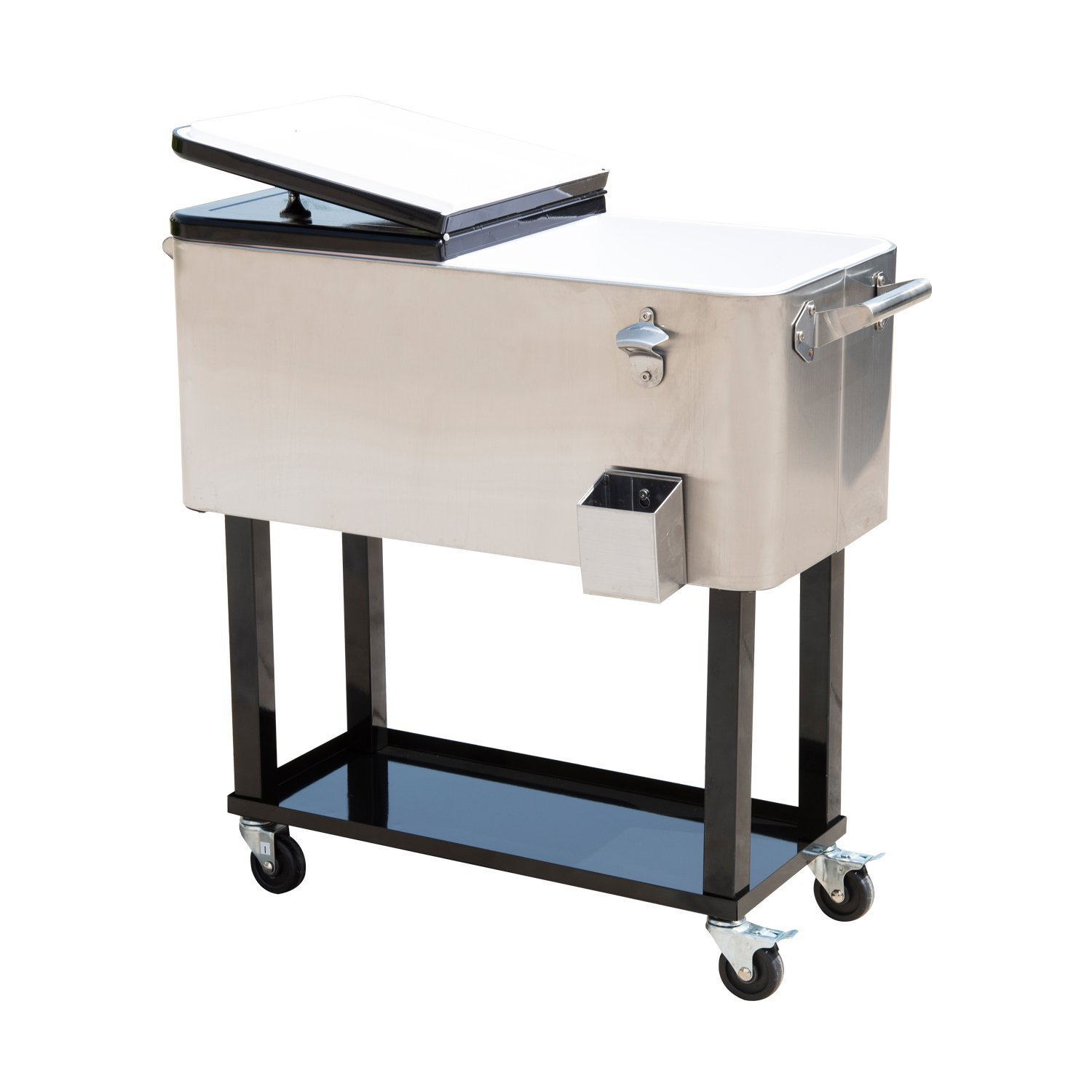 Amazon.com : Outsunny 80 QT Rolling Ice Chest Portable Patio Party ...