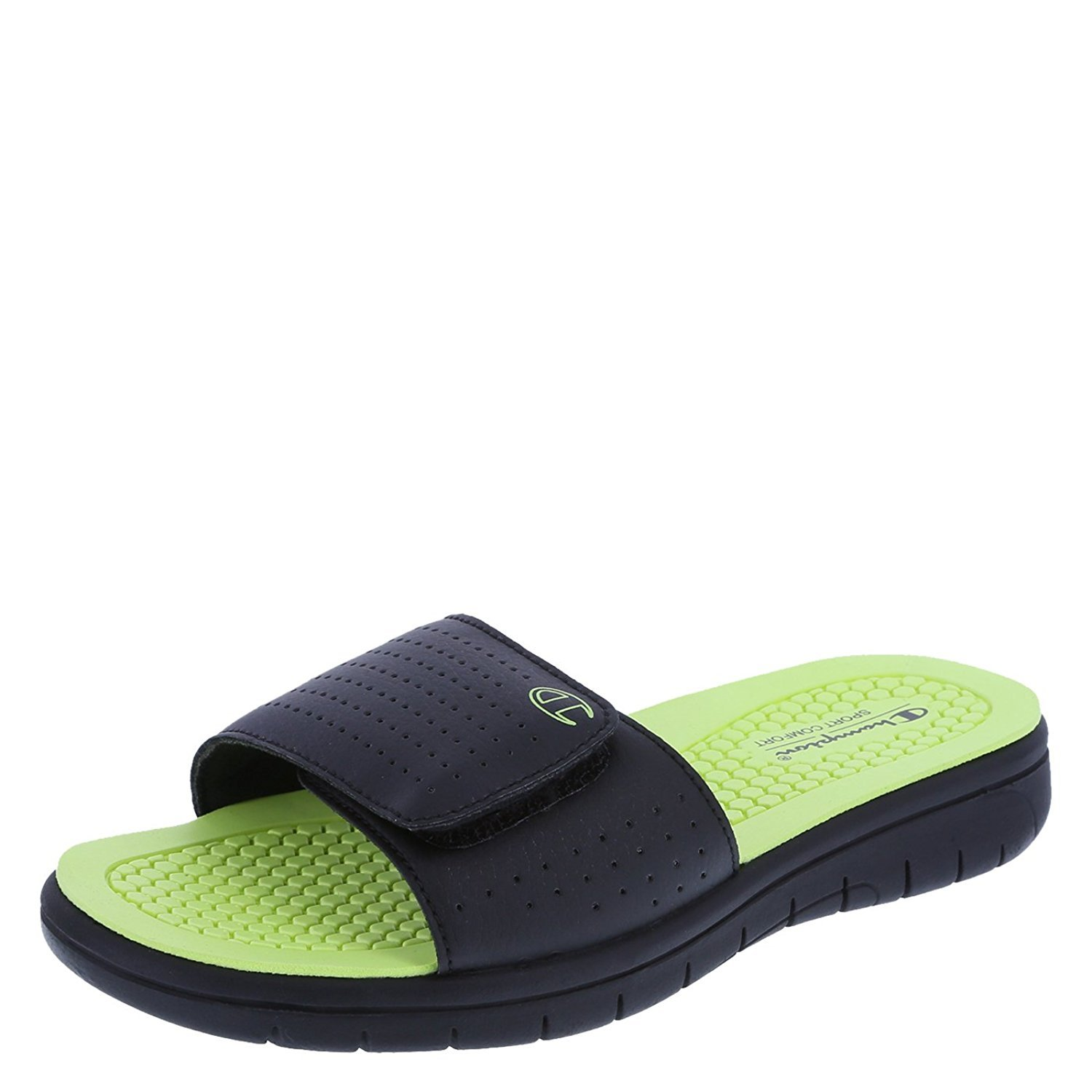 bad4d24634ee4 Champion Boys  Black Green Boys  Gusto Sport Slide 2 Regular  Amazon.ca   Shoes   Handbags