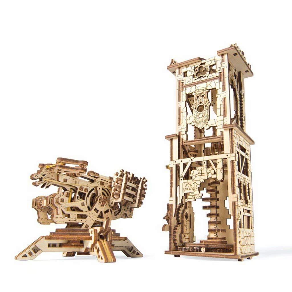 Mx-model Hölzerner mechanischer vorbildlicher DIY DIY zusammengebautes Spielzeugpuzzlespielgeschenkspielzeug dreidimensionales Puzzlespiel A