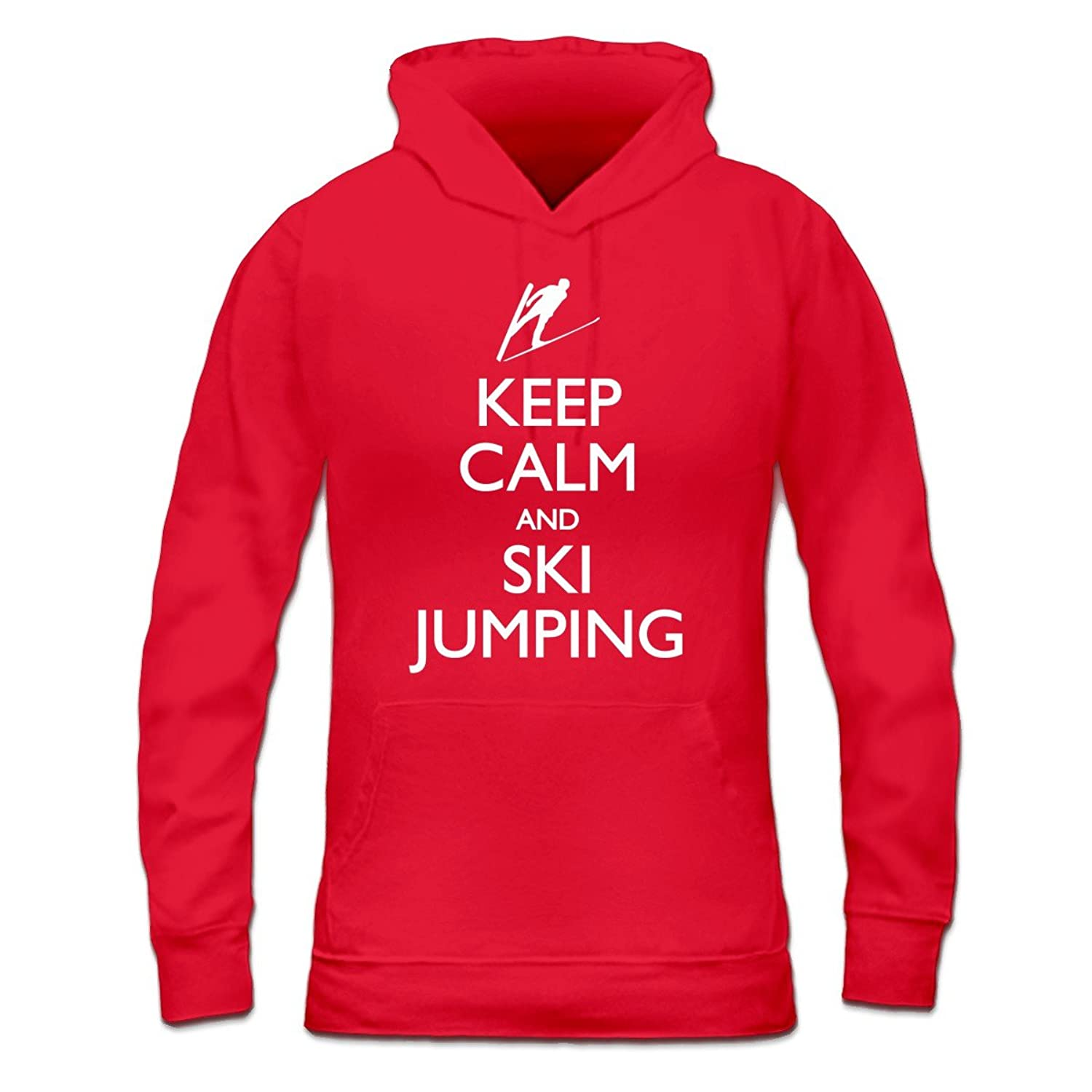 Keep Calm And Ski Jumping Frauen Kapuzenpullover by Shirtcity
