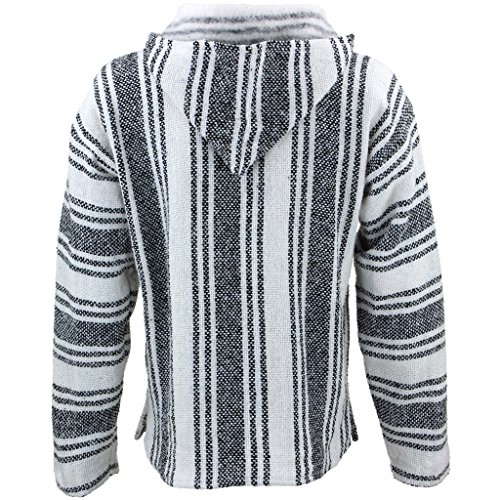 À Siesta Sweat Gris Homme Taille shirt Manches Capuche Unique Rayures Longues wwBEqrO