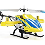 JJRC RC Helicopter, JX02 Aircraft with 4 Channel, Altitude Hold Flying Toy in Sturdy Alloy Material, Gyro Stabilizer Multi-Protection Drone for Kids and Beginners