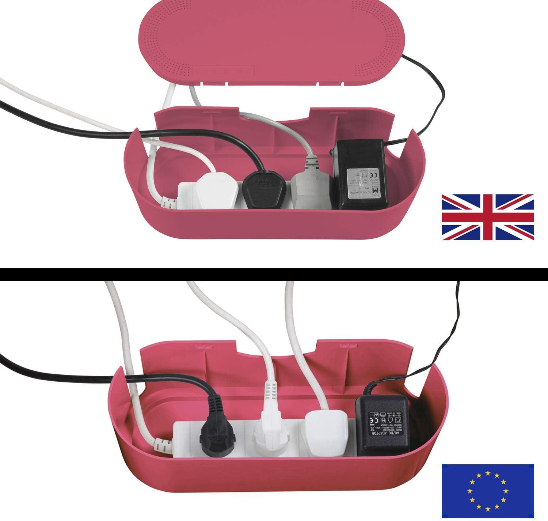 D-Line EU/CTUSMLP/SW - Caja Organizadora de Cables, Rosa, Pequeña