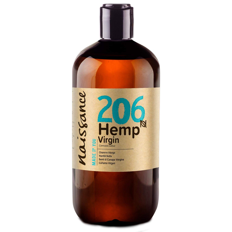 Naissance Cold Pressed Virgin Hemp Seed Oil 16.9 fl oz - Pure, Natural, Unrefined, Non GMO, Food Grade, Vegan, Hexane Free, Rich in Essential Fatty Acids and Vitamin E