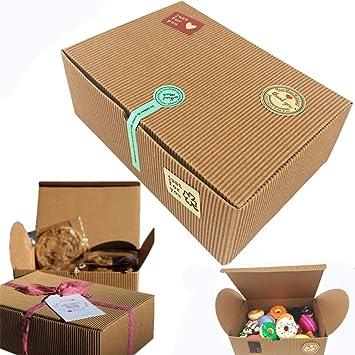 Cajas de regalo, juego de 10 cajas de panadería para galletas ...